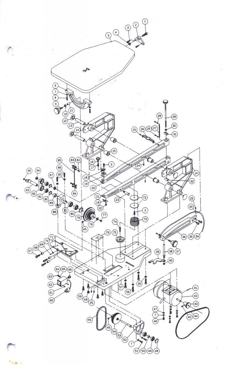Arm Assy Diagram Parts List For Model 137212371 Craftsman Parts Saw Parts Searspartsdirect Craftsman Parts Diagram