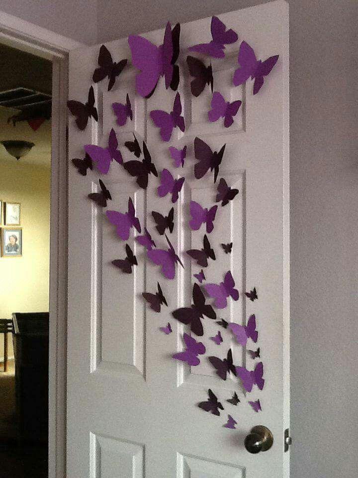 Fly Butterflies Diy Home Crafts Butterfly Wall Art Butterfly