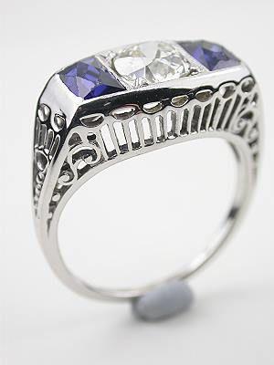 1920 S Three Stone Antique Wedding Ring Rg 2605 In 2018 Vintage
