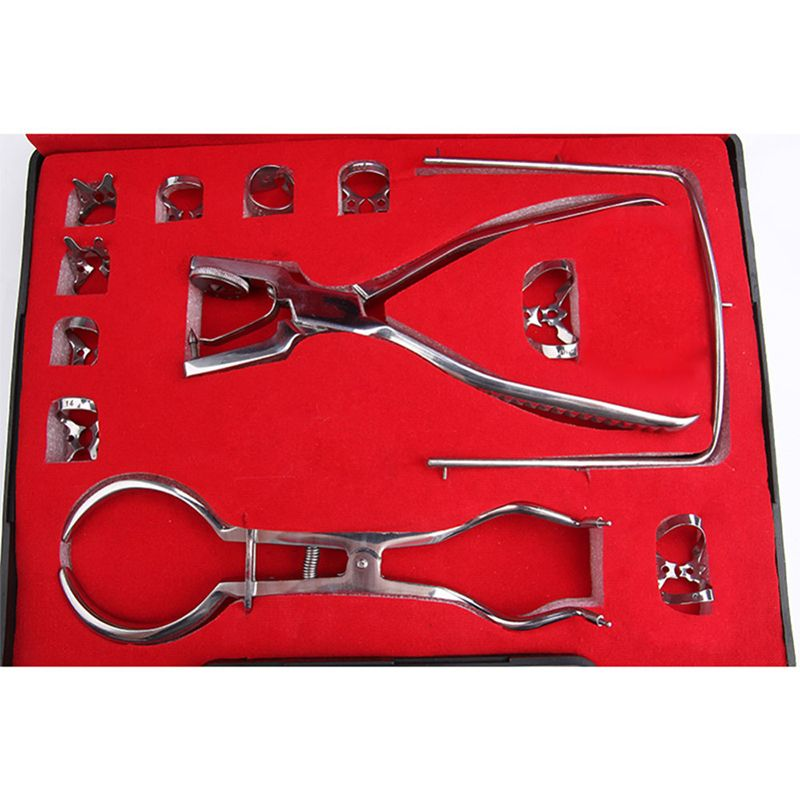 12 Pcs/Set Teeth Care Dental Dam Perforator Dental Dam