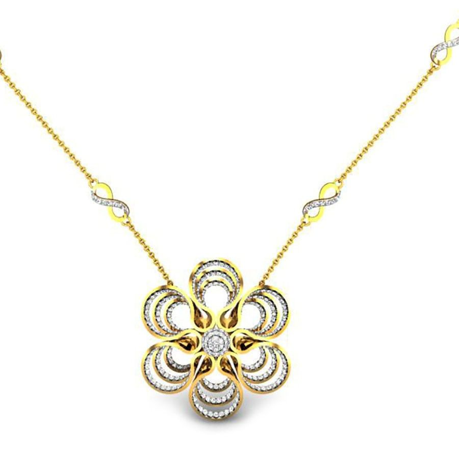The flower merged with many flowers to form a beautiful pendant the flower merged with many flowers to form a beautiful pendant gold diamonds mozeypictures Image collections