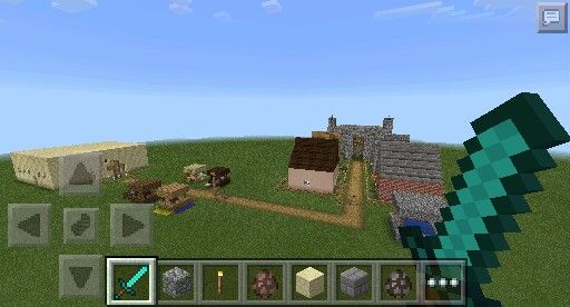 Stone Castle- You could also add a market, neighborhood, or church