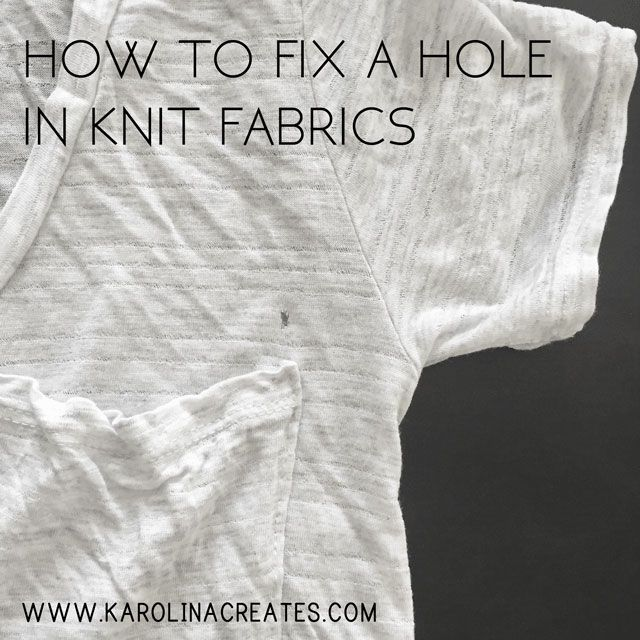 A Guide On How To Fix Hole In Knit Fabric Mend Holes