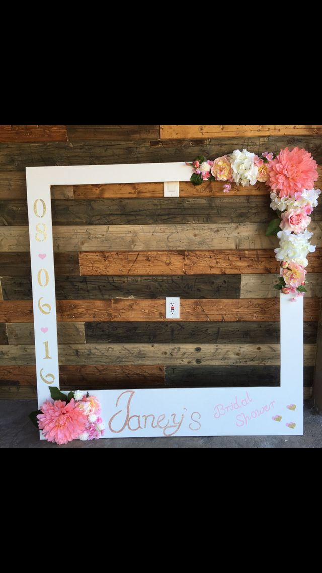 bridal shower photo booth frame bridal shower diy pinterest fotorahmen kommunion deko und. Black Bedroom Furniture Sets. Home Design Ideas