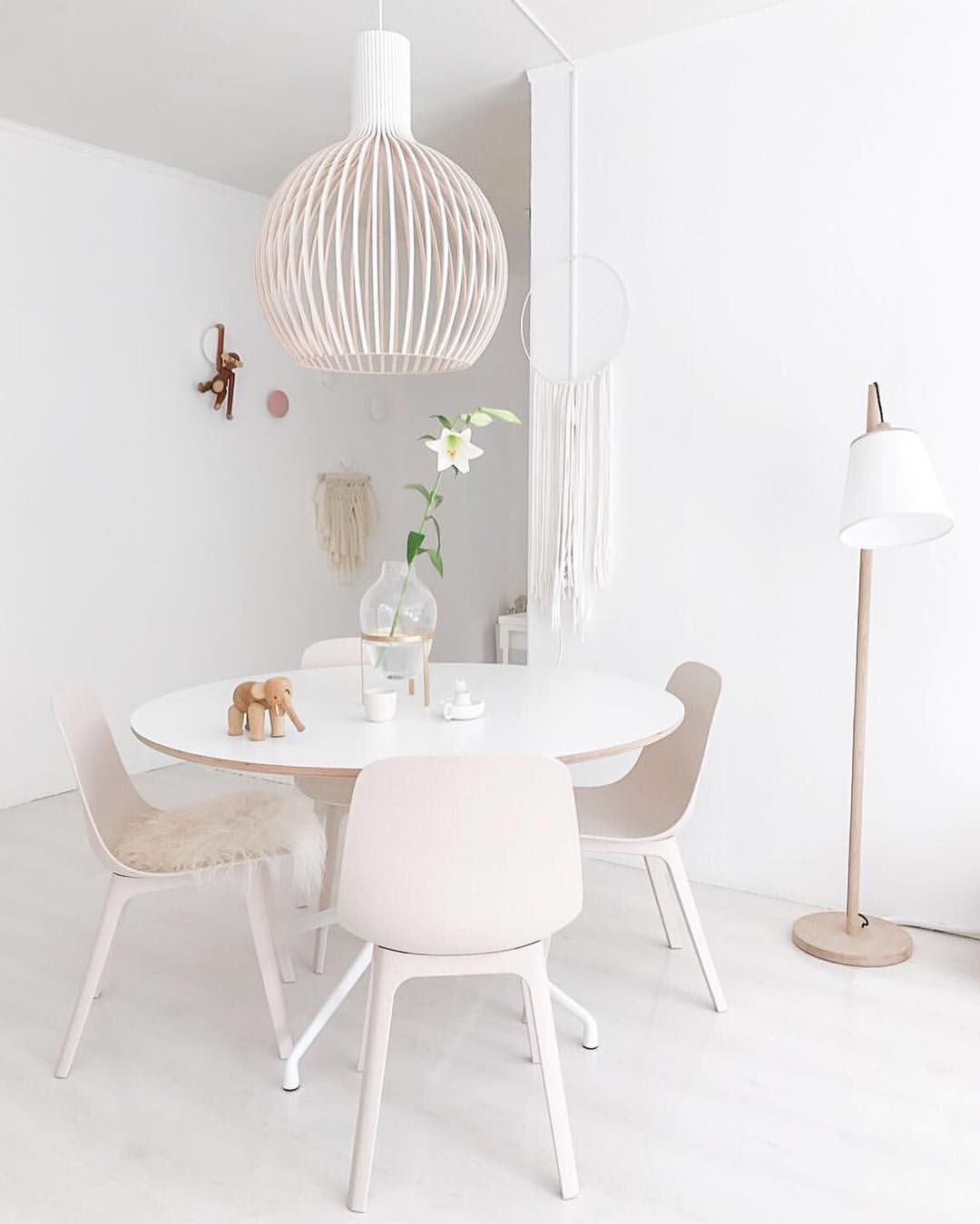 Diningroom With Hay Table Secto Lamp Ikea Odger Chairs Soohme
