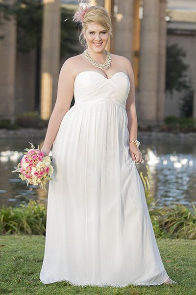 cutethickgirls.com plus size casual wedding dresses (19 ...