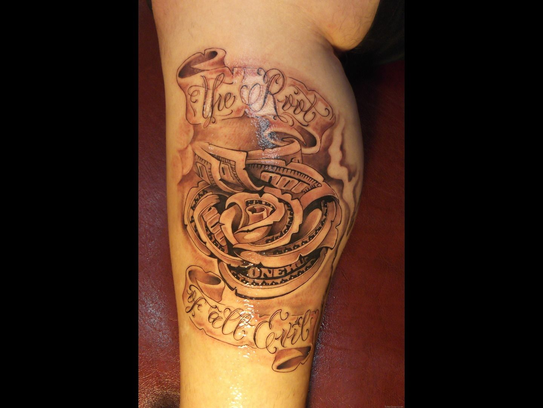 Money tattoo designs tattoo bay area black and grey