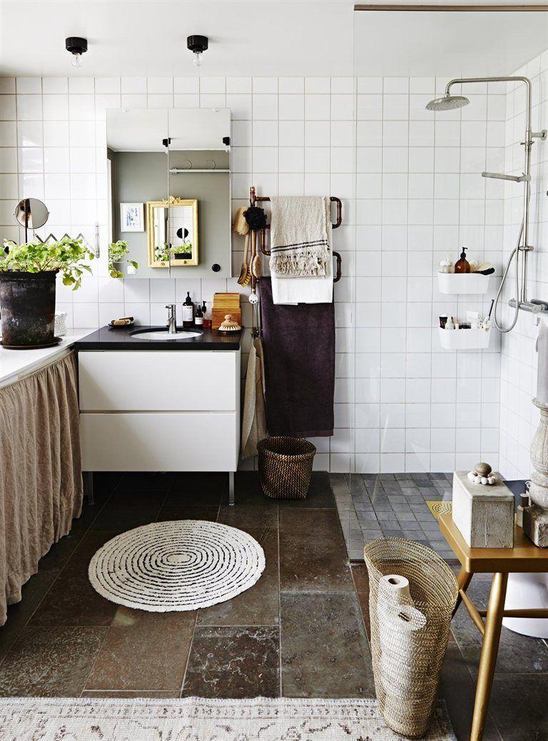 rustic bathroom IKEA Magazine   INTERIORS   Scandi cool   Pinterest ...