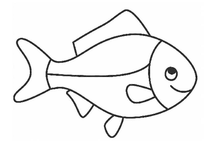 Ausmalbilder fische, Fisch vorlage, Malvorlage fisch
