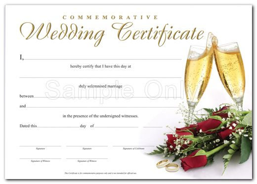Fake Marriage Certificate love Wedding certificate