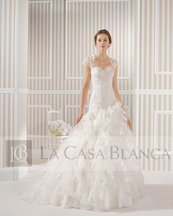 vestidos de novia / rosa clará / lurdes -- // la casa blanca