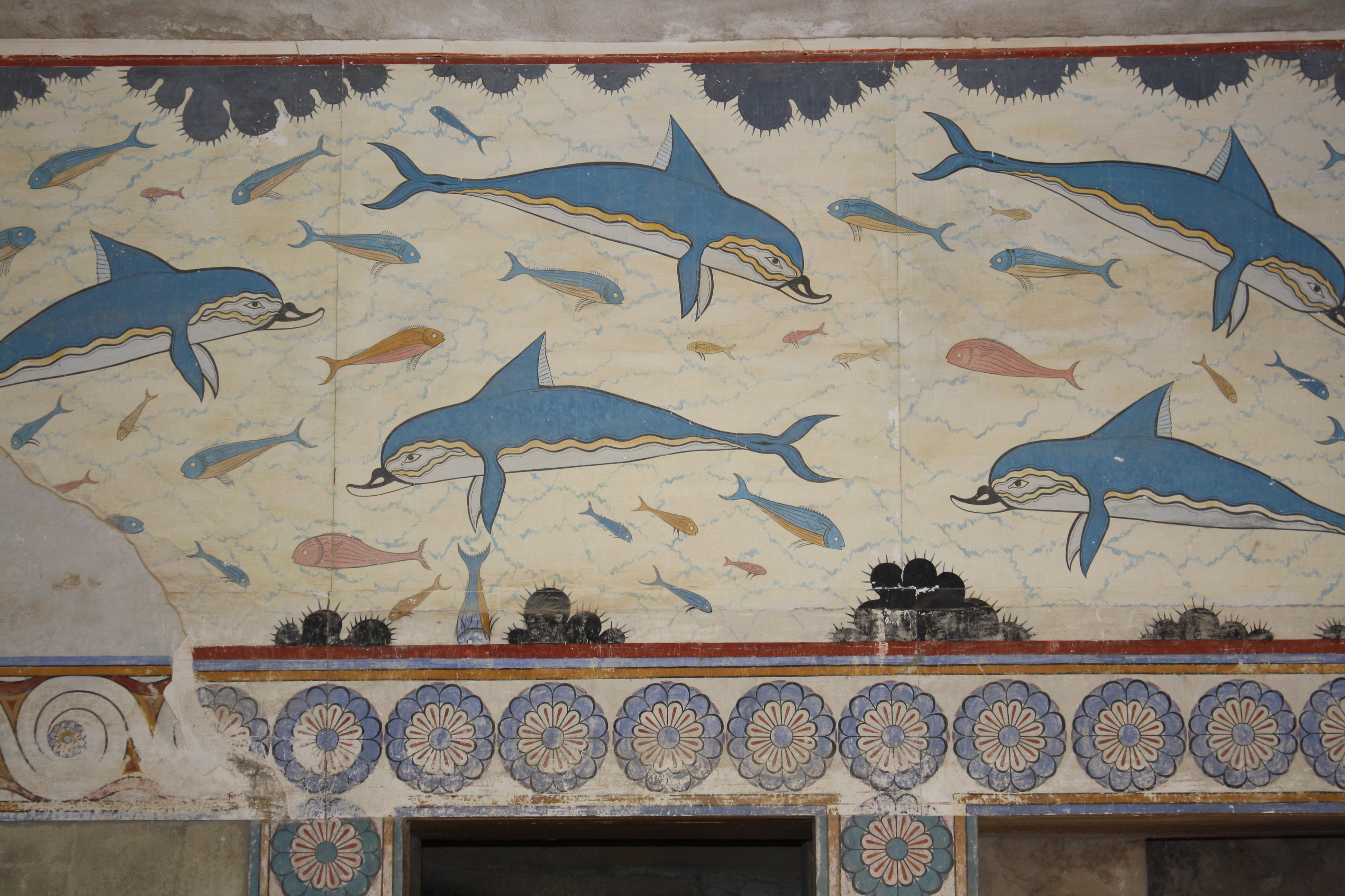 Dolphin Wall Painting Knossos