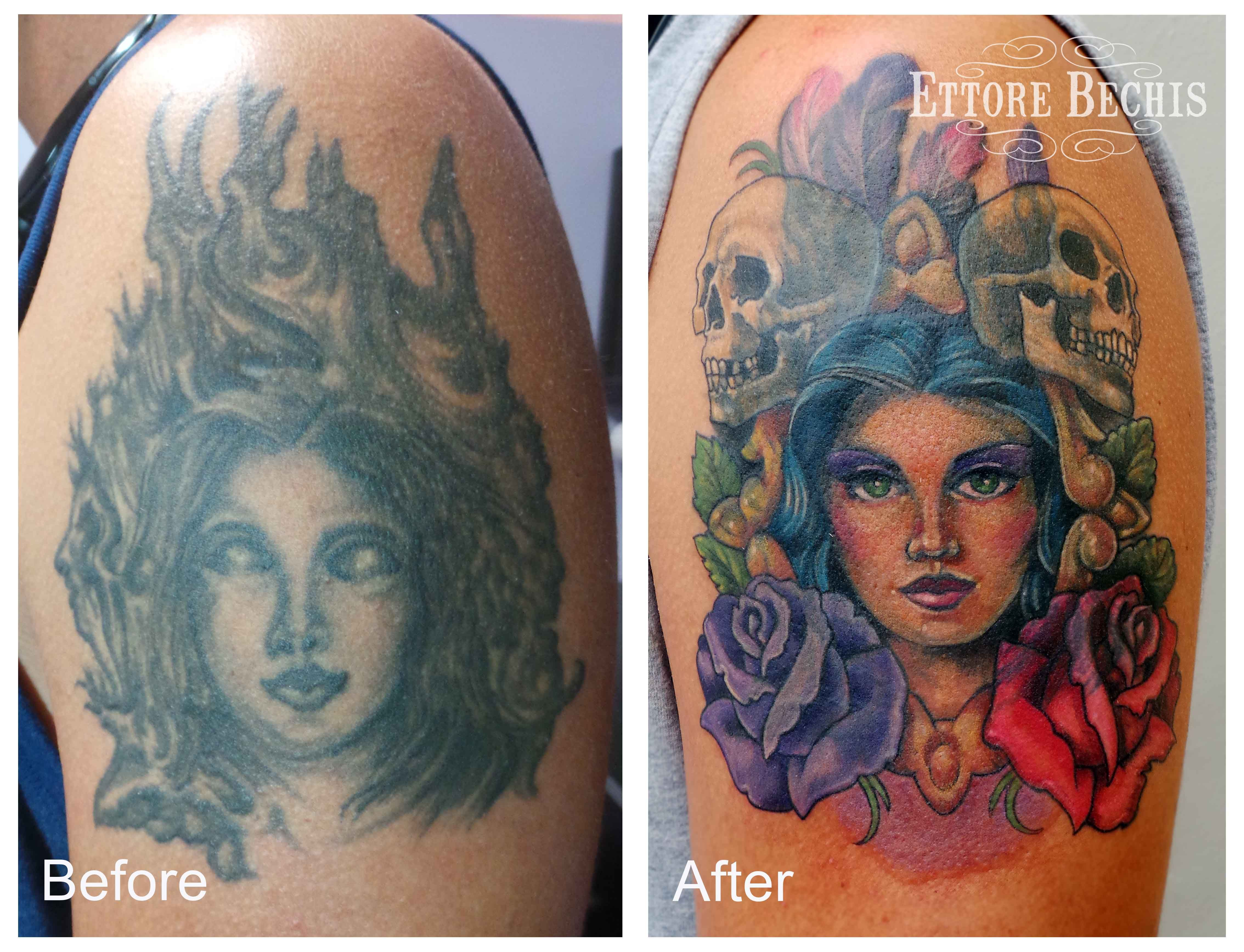 www.ettore-bechis.com Best Miami tattoo shop cover up,woman,tattoo ...