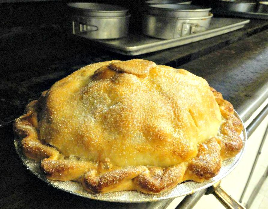 Baked this DIY apple pie and you can too. We sell it frozen. Customers heat up in the oven themselves for a fresh treat!