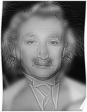 Far Marylin Near Einstein - Optical Illusion  Post