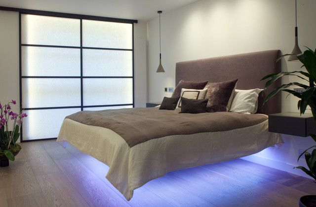 Light Up Your Bedroom With Charming LED Light Fixtures    Http://interiordesign4.