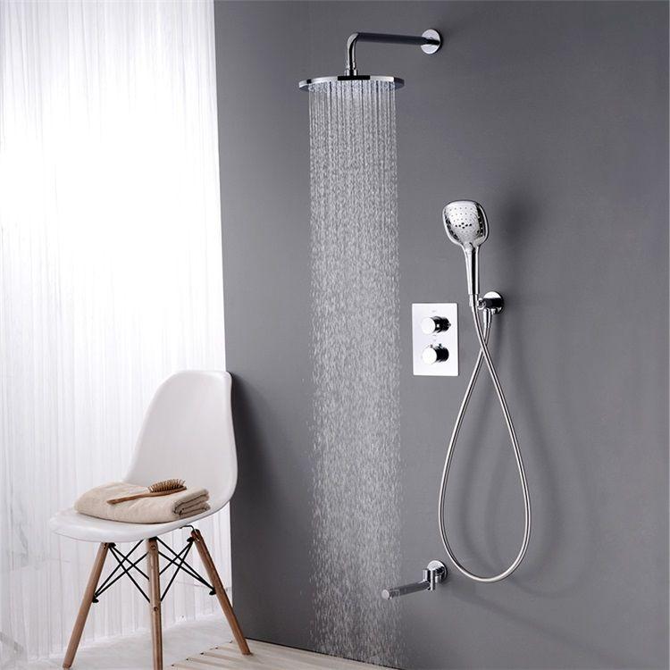 サーモシャワー混合栓 バス水栓 ヘッドシャワー ハンドシャワー 蛇口