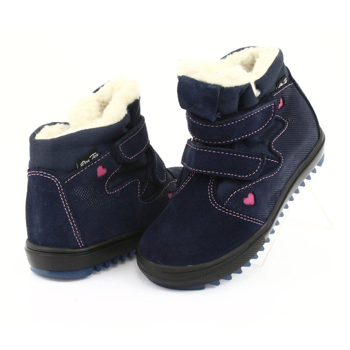 Ren But Kozaczki Z Membrana 4411 Rzepy Granatowe Rozowe Boots Childrens Boots Kid Shoes