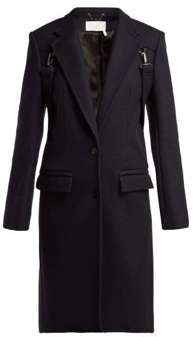 6432726823 Chloé Martingale Trim Wool Blend Coat - Womens - Navy | Products ...