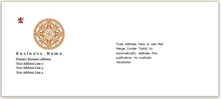 Envelope Template Design For Ms Word Download At Httpwww