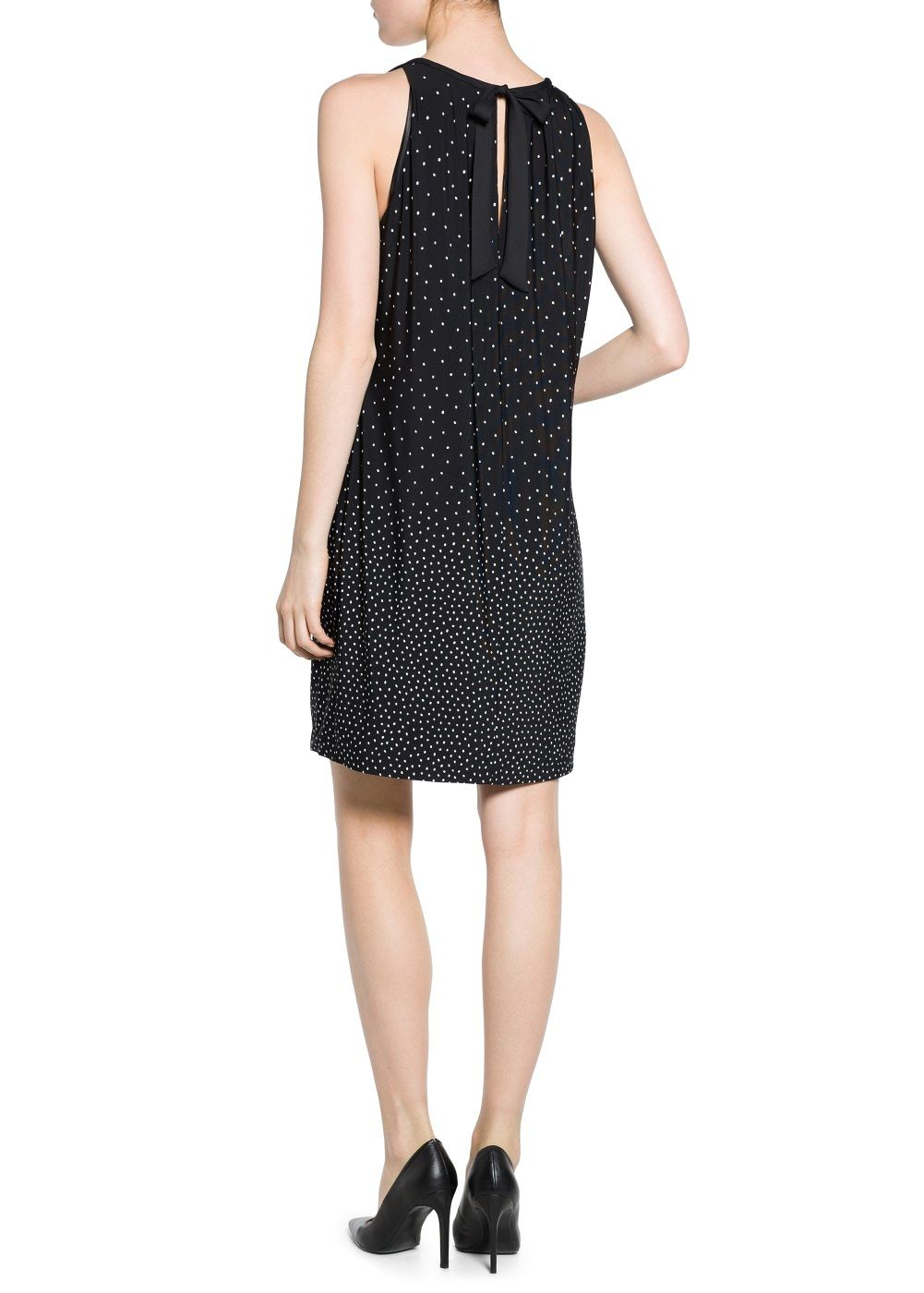 Bow polkadot dress polka dot print
