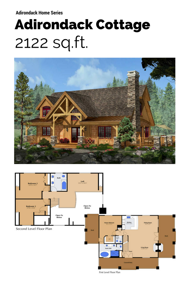 Timber, stone, log siding, and twig details typify the Adirondack ...