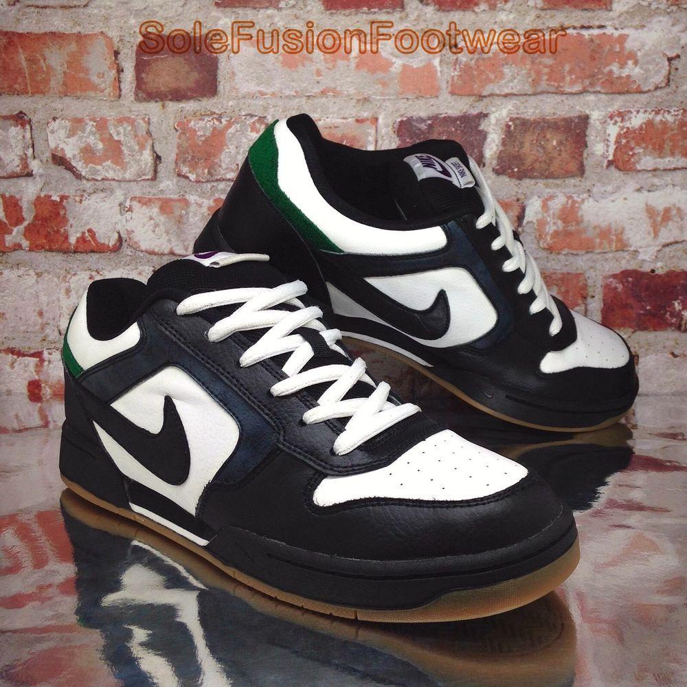 893efd6d2 Nike Mens SKEET Skate Trainers White Black sz 9 Dunk Skateboarding Shoe US  10 44
