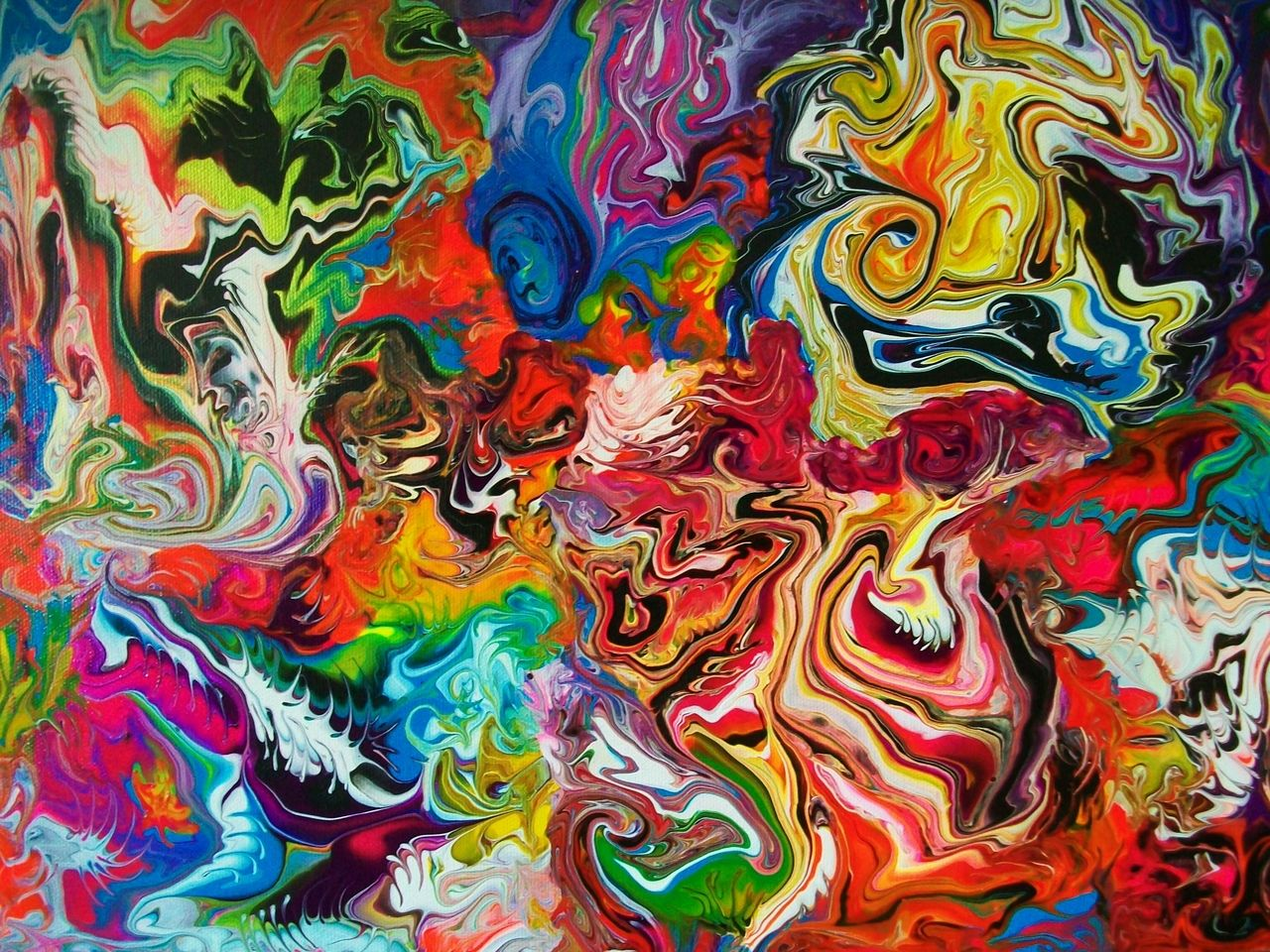 Full Color Abstract Art Painting Best Abstract Paintings
