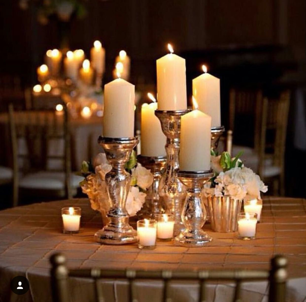 Candles Can Make A Beautiful Wedding Centerpiece