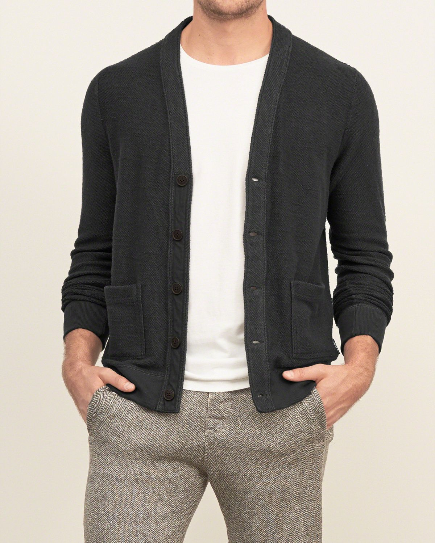 Mens Button-down Fleece Cardigan | Mens Sweaters | Abercrombie.ca ...