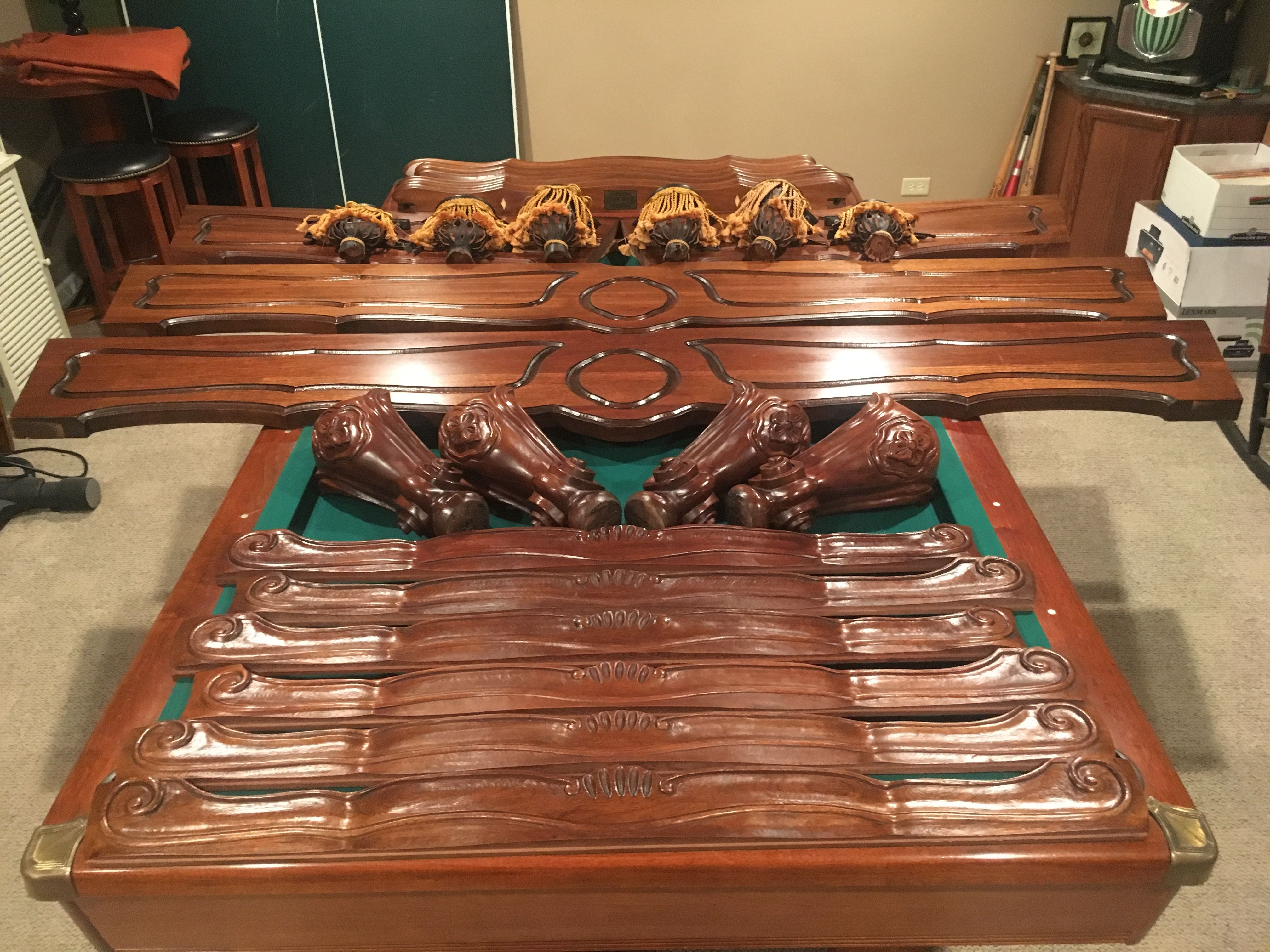 9' Brunswick Billiards Orleans Pool Table Very Clean
