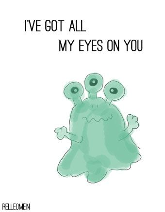 Valentinskarte Monster Iu0027ve Got All My Eyes On You #Valentineu0027s Day  #Printable