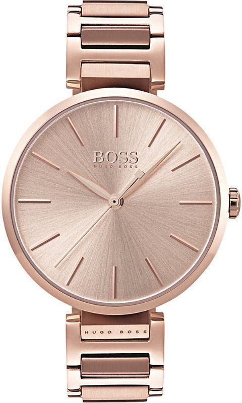 fcfa2cfce869 BOSS 1502418 Allusion rose gold-toned stainless steel watch in 2019 ...