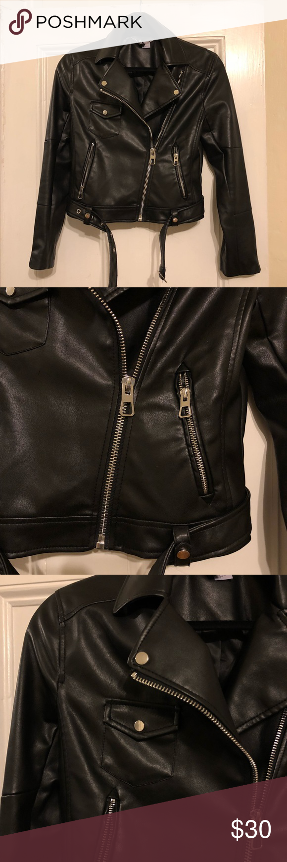 H&M faux leather jacket Faux leather jacket, never worn