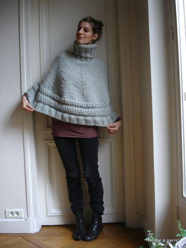 tuto poncho felicie à paris | poncho | Pinterest | Crochet