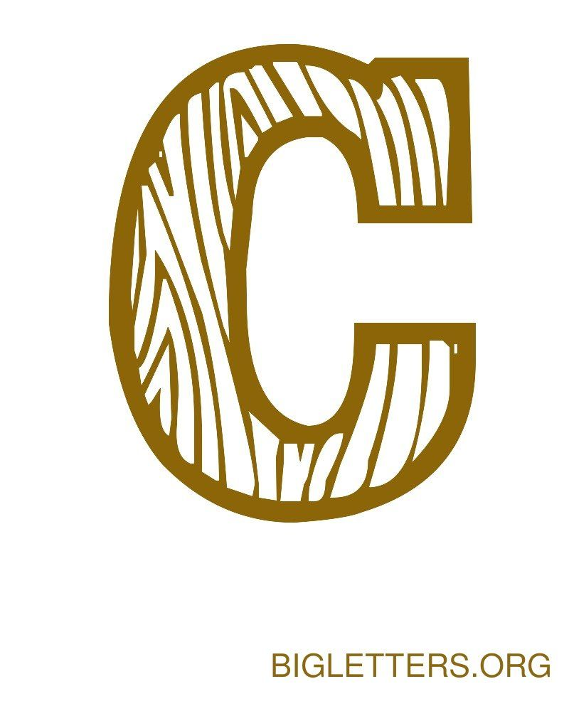 big decorative wood letter c fonts pinterest lettering fonts