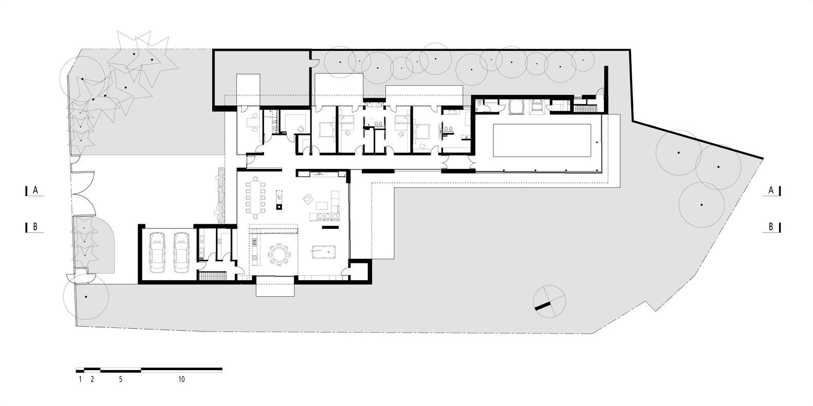 Gallery Of House On The Line Of The Horizon Kabarowski Misiura Architects 8 Ground Floor Plan Architect Architect House