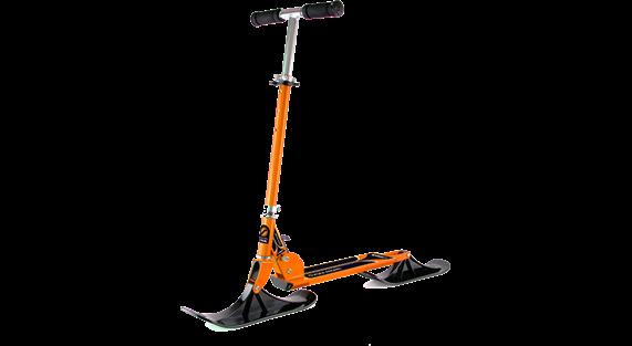 sparkcykel på snö