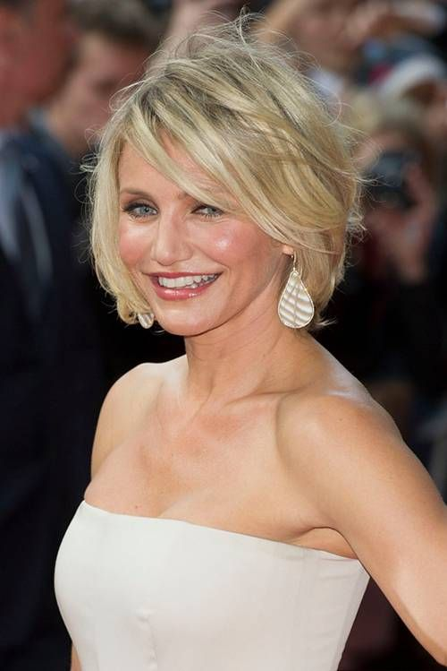 Cameron Diaz With A Blonde Short Bob Hairstyle Hair Haare 50er