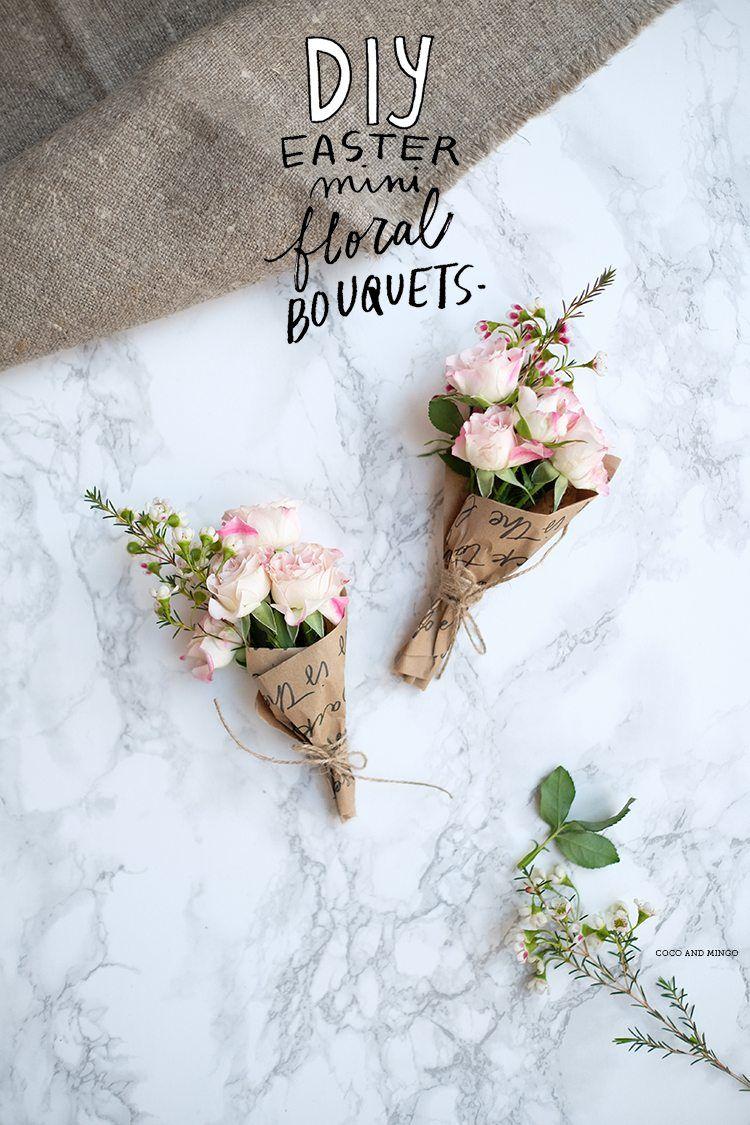 20 Darling Easter Diy Best Of Pinterest Flower Bouquet Diy Easter Diy Small Flower Bouquet