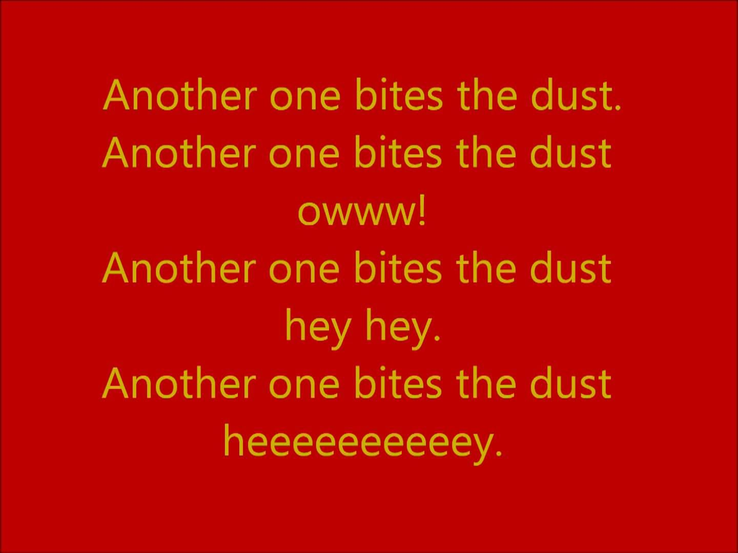 Another One Bites The Dust By Queen With Lyrics Iron Man 2 Bee
