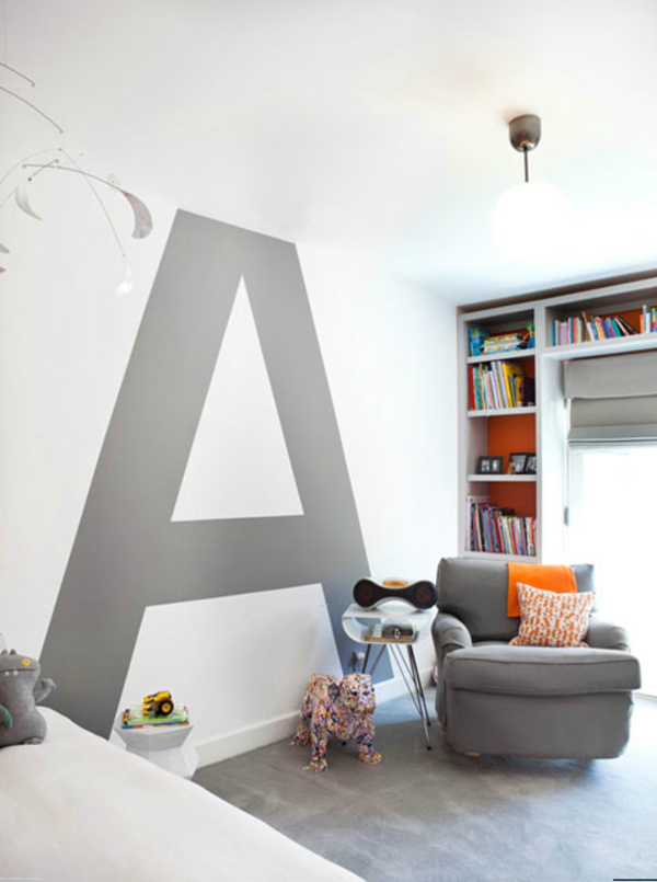 Schon Buchstabe A An Der Wand Bemalen   Im Kinderzimmer   62 Kreative Wände  Streichenu2026