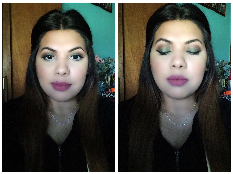 Dark Olive Green Eye shadow: Eye shadow & Winged Liner Tips