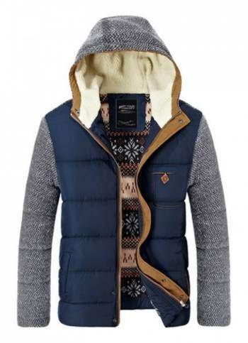 Blue Hooded Winter Jacket MR8962