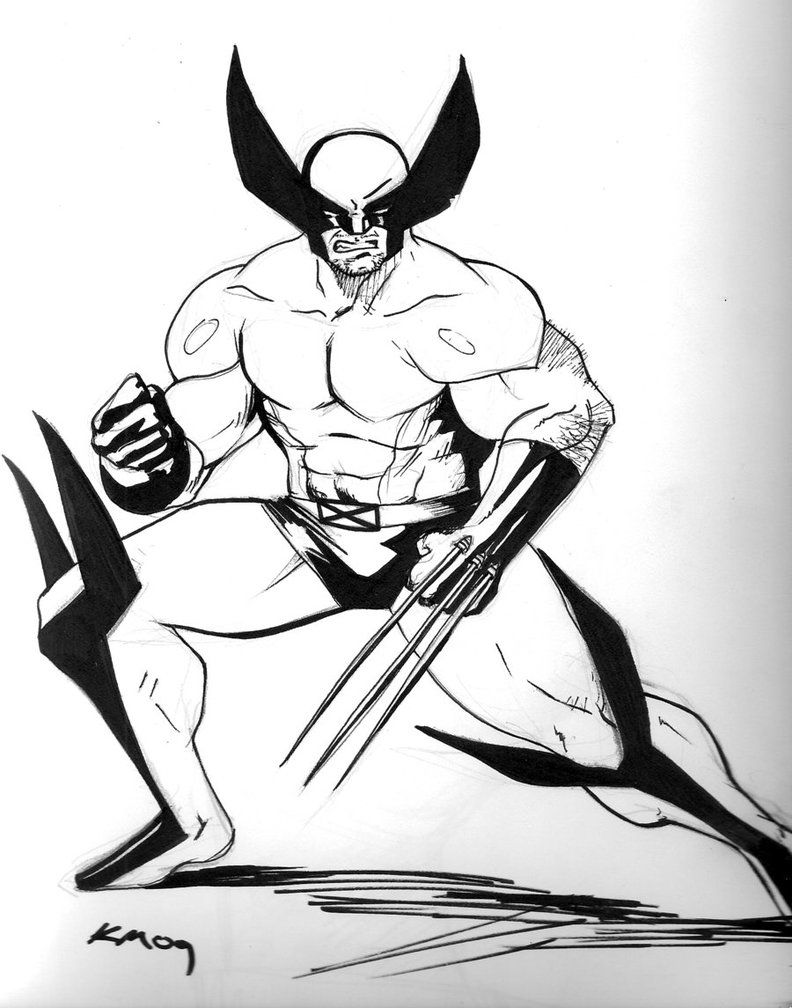Wolverine coloring pages to print - Wolverine Coloring Pages