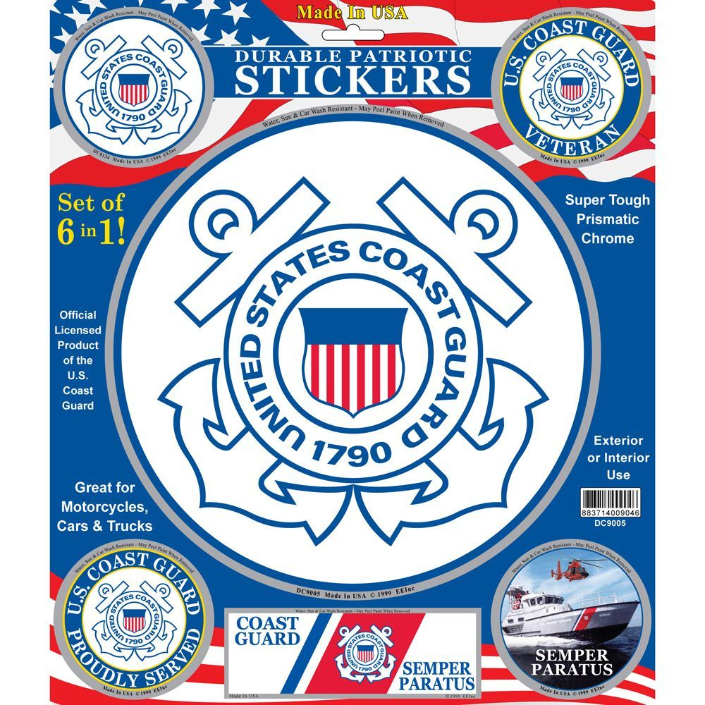 Military USCG Dog Tag Decal Patriotic
