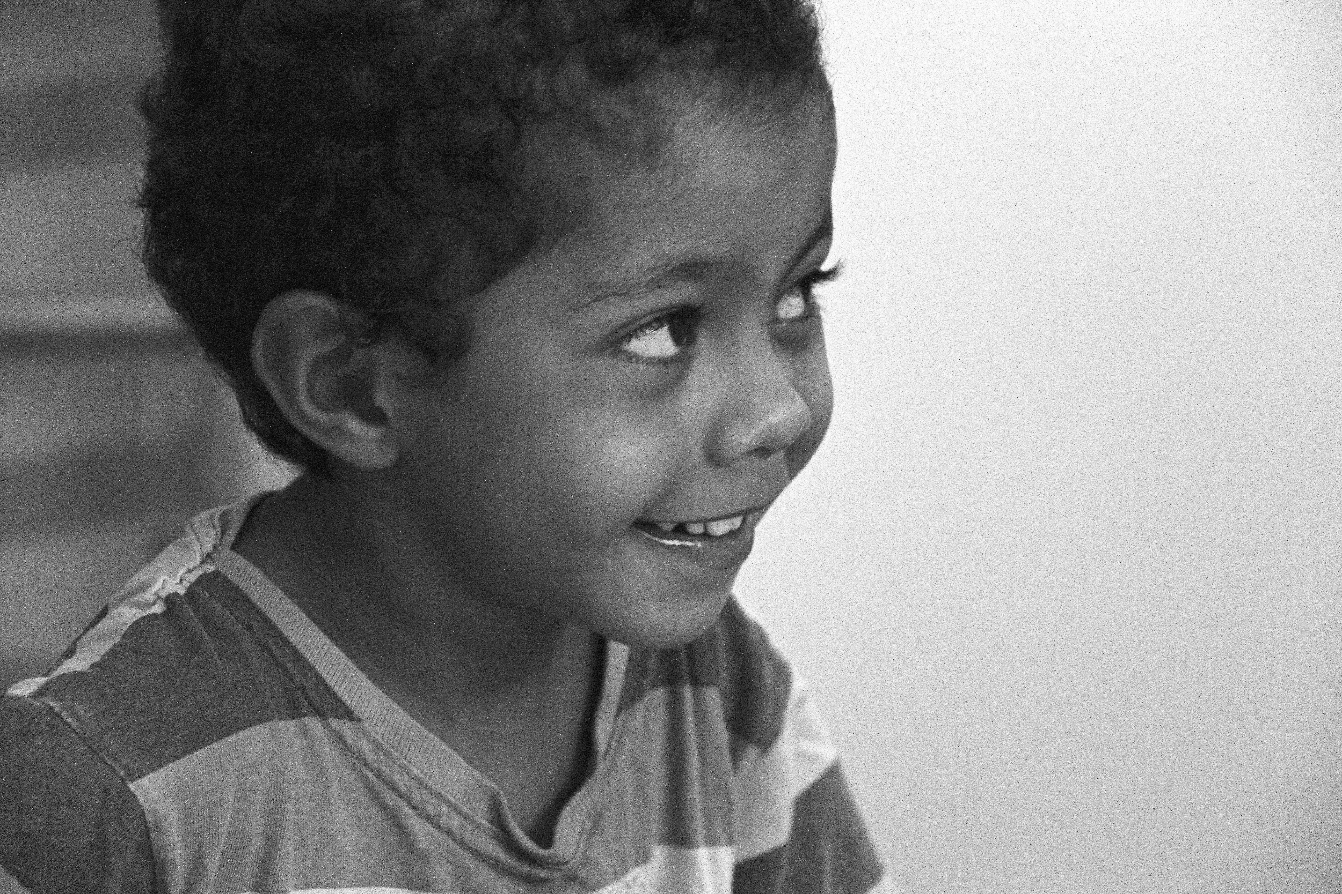 João Gabriel e seu sorriso.