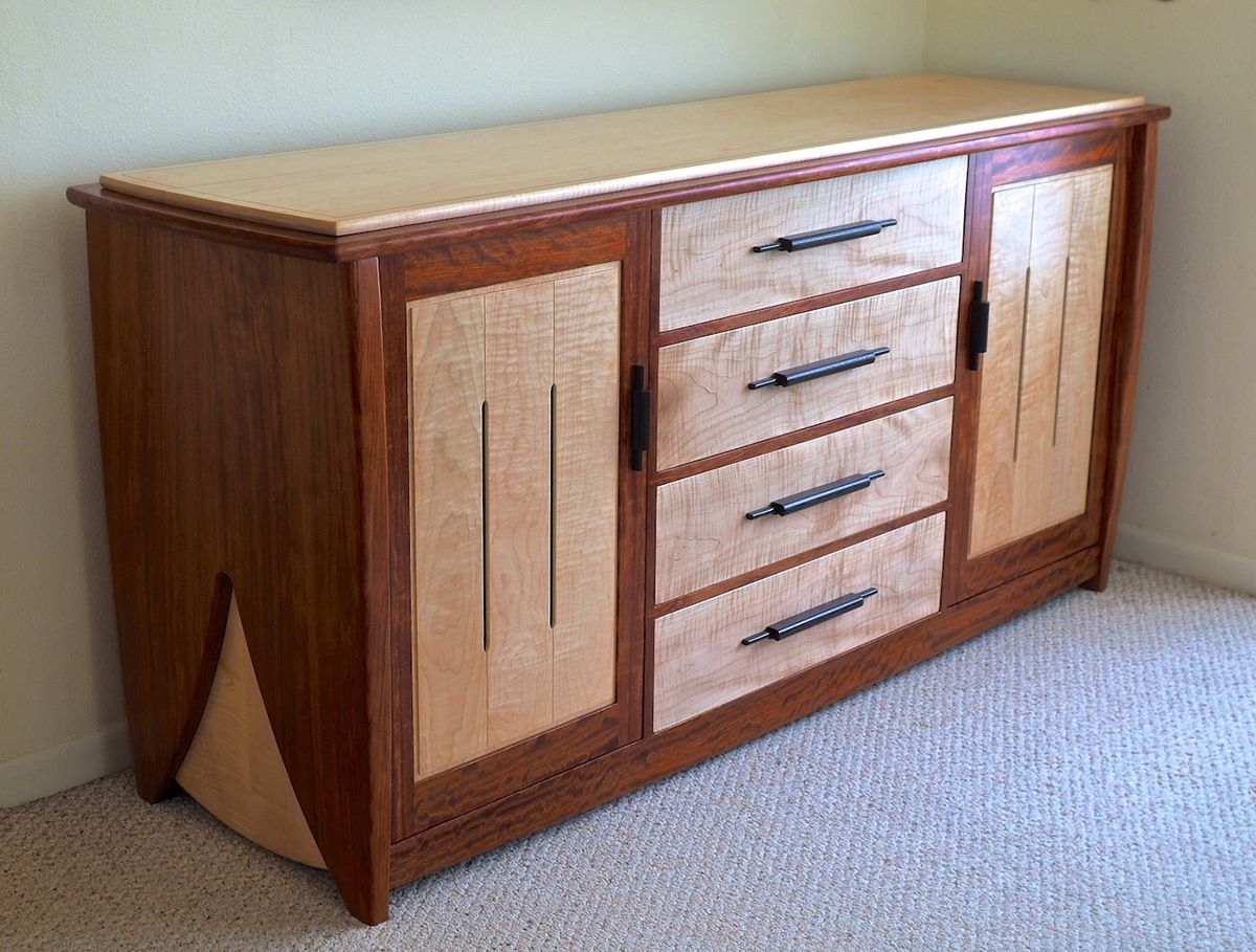 Contemporary Handmade Dresser In Bubinga Curly Maple On Behance
