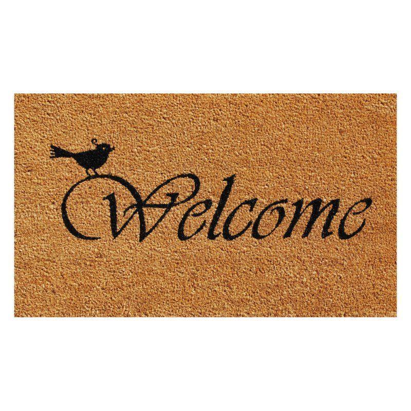 Home More Chirp Welcome Outdoor Doormat 101851729 Front Door Mats Entrance