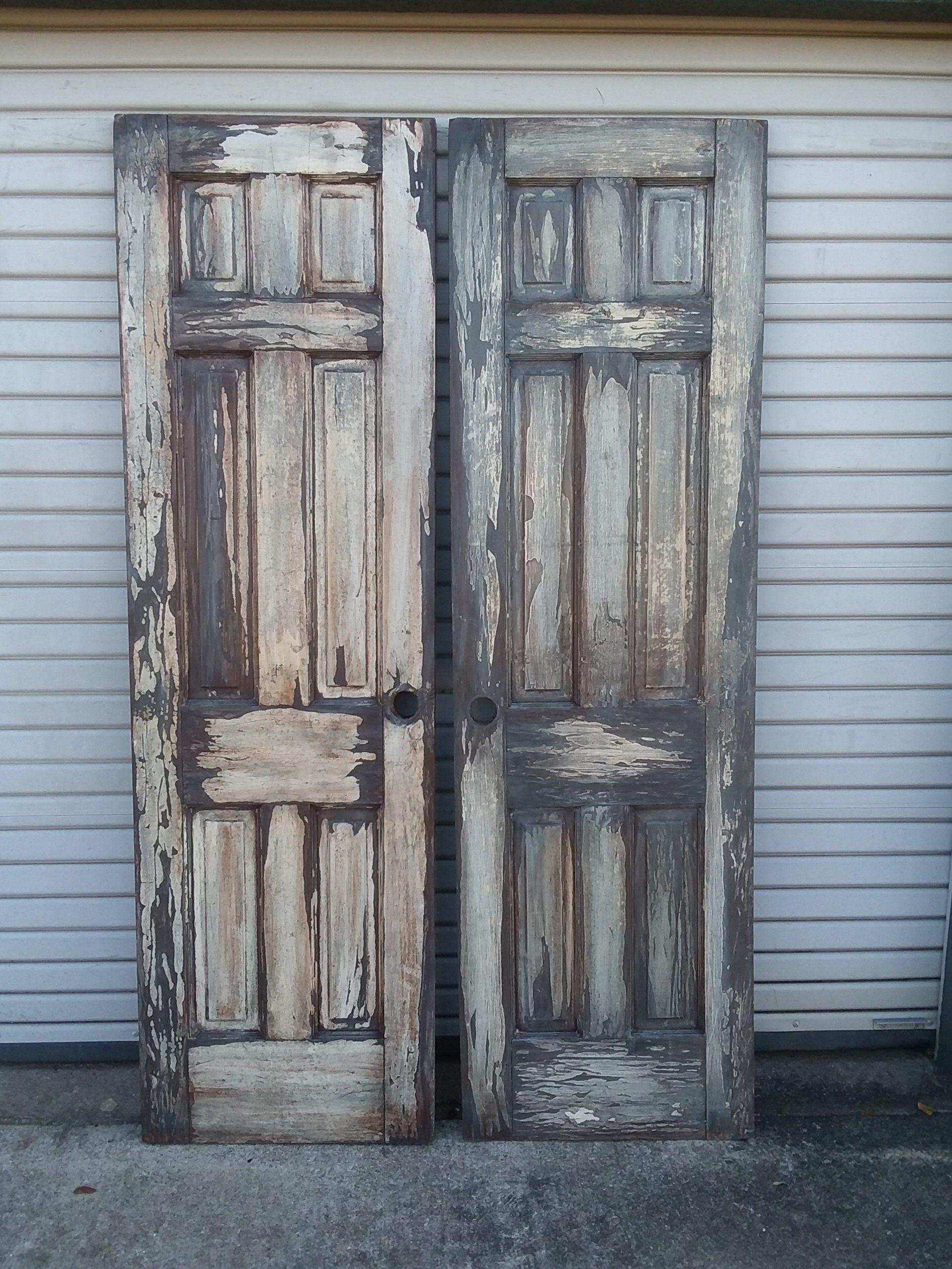 Pair Of Old Rustic 24 6 Panel Cross Doors Rustic Doors French Doors Double Doors Antique Doors Old Doors Barn Doors 23 3 4 X 79 3 4 In 2020 Antique Doors Rustic Doors Old Wood Doors